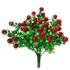 fruit flower arrangement 3 bunches simulation cherry fruit tree artificial flower