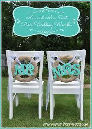 Wedding Wreaths Mr And Mrs Seat Back Wedding Wreaths A Sweet Berry U0027s Blog
