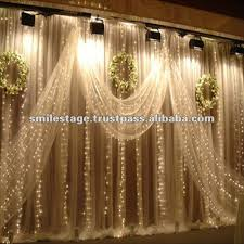 Wedding Hall Decorations Wedding Hall Decoration With White Background Curtain Buy