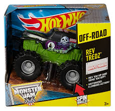 monster jam truck amazon com wheels monster jam rev tredz grave digger truck