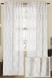 Ivory Linen Curtains Embroidered Wave Luxury Linen Curtain Panel