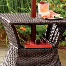 patio umbrella stand side table umbrella stand table side accent end base wicker outdoor patio