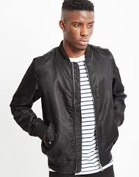 the idle man lightweight nylon ma 1 er jacket black at the