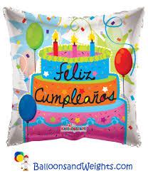 foil balloons 18 inch feliz cumpleanos pastel clear view foil balloon balloons