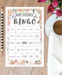 baby shower bingo creative union design vintage baby shower bingo