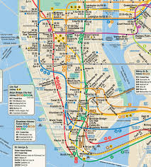 New York City Map With Attractions by New York Map Map Travel Holiday Vacations
