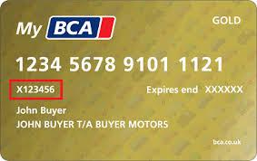 bca gold card mybca card information british car auctions