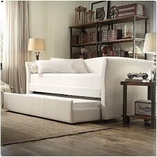 Leather Daybed With Trundle Homelegance Milan White Leather Modern Twin Daybed With Roll Out