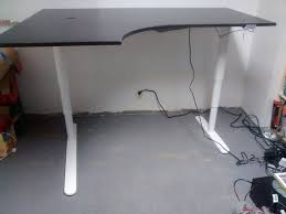Corner Desk Table Bekant Galant Sit Stand Corner Desk Hack Desk Hacks Desks And