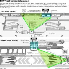 Embarcadero Bart Station Map by Relief At Last Bart May Reopen Restrooms Closed After 9 11 Sfgate