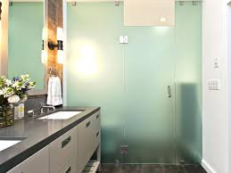 photo page hgtv bathroom with opaque glass enclosed shower