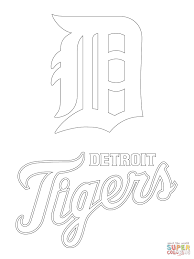 detroit tigers pitcher baseball coloring page purple kitty