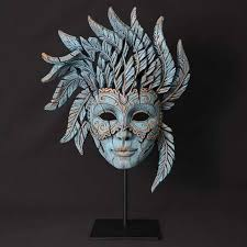 venetian mask retail gallery sculpture ceramics venetian mask