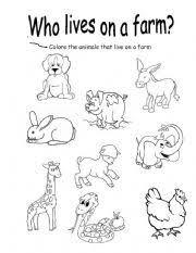 farm animals worksheet by oliva garcia