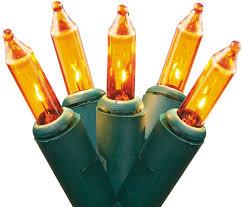 amber mini led christmas lights set of 50 gold mini christmas lights green wire walmart com