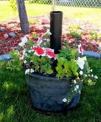 Diy Patio Umbrella Stand Easy Diy Flowerpot Umbrella Stand Planters Lights And Backyard