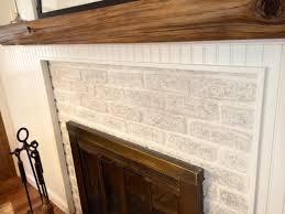 Brick Fireplace Paint Colors - painted brick fireplace suite pieces