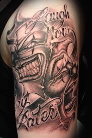 best evil joker tattoo design real photo pictures images and