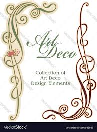 art deco design element corner royalty free vector image