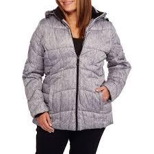 Plus Size Down Coats Faded Glory Women U0027s Plus Size Hooded Puffer Jacket Coat Walmart Com