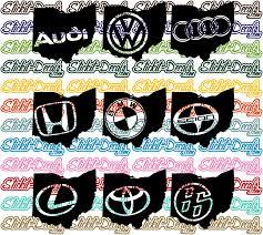 Ohio Silhouette Car Logos Volkswagen Vw Audi Acura Honda