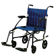 Transport Walker Chair Drive Medical Fly Lite Aluminum Transport Chair Blue Plaid Walgreens