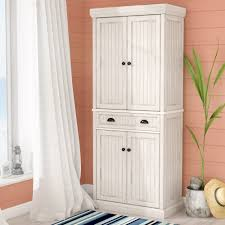 kitchen storage cabinets with doors and shelves beachcrest home halstead 72 kitchen pantry reviews wayfair