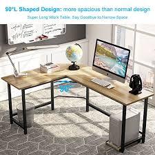 Owl Table L Tribesigns Modern L Shaped Desk Corner Computer Desk