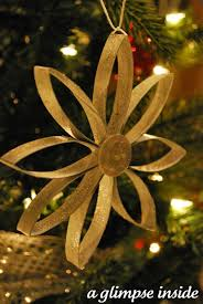 recycled cardboard snowflake ornament featuring allison from a