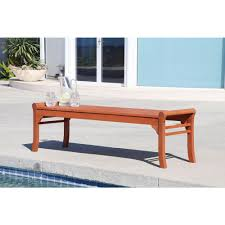 Outside Benches Home Depot by Eucalyptus Backless Wood Patio Bench V437 The Home Depot