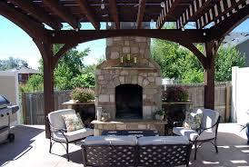 pergola fireplace shade