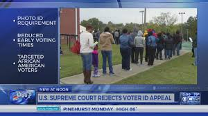 supreme court rejects appeal over nc voter id law youtube