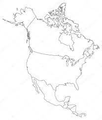 Blank Map Of North America by North America Blind Map U2014 Stock Vector Delpieroo 51647491