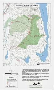 Shawnee Map Early Morning Trails Training Run Pleasant Mountain Maine Trail