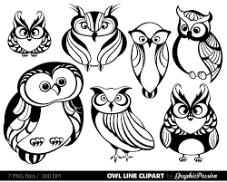 clipart owl black and white owl clipart owl digital clip art baby owl clipart owl party