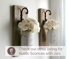 rustic sconce rustic wall decor custom order wall sconce mason