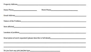 Maintenance Request Form Template by 5 Request Form Templates Formats Exles In Word Excel