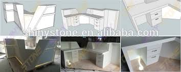Affordable Reception Desk Affordable Luxury Design Solid Surface Marble Top Front Desk
