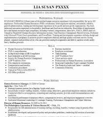Hr Recruiter Job Description For Resume by Best Human Resources Manager Resume Example Livecareer