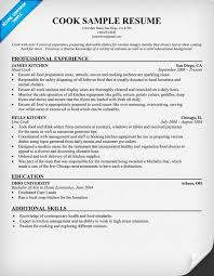 cook resume exles cook resume resume sles across all industries