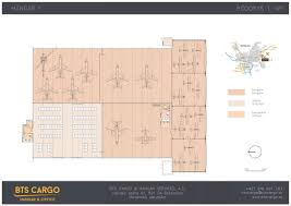 Floor Plan Of The Office Hangars Warehouses And Office Space For Rent In Building Bcd