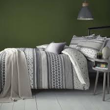 Bedding Set Retrace Stripe Bedding Set In Charcoal Terrys Fabrics Uk