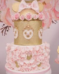 minnie mouse birthday pink and gold minnie mouse birthday party pretty my party