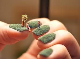 amazing nail art miniature people on nails nails
