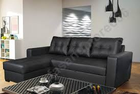 Black Faux Leather Sofa Brand New Corner Sofa Bed In Black Faux Leather Co