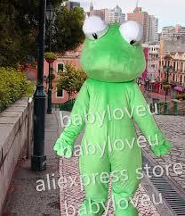 high quality big eyes lizard mascot fursuit pa frog mascot costume
