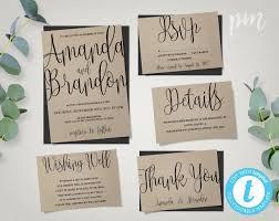 diy wedding invitations templates wedding invitation template suite calligraphy script printable