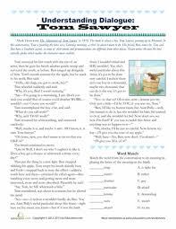understanding dialogue tom sawyer 5th grade reading reading