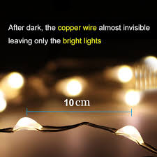 amir solar powered string lights 100 led copper wire