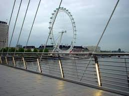 hungerford bridge london eye from the new hungerford bridge west bridge charing